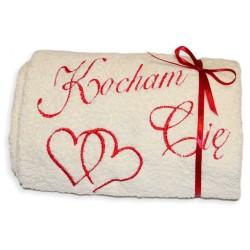 Ręcznik z napisem Kocham Cię