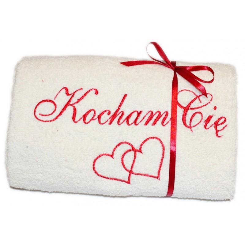 Ręcznik na Walentynki